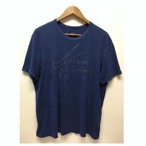 Armani Exchange | Blue T-shirt Spell Out Logo EUC